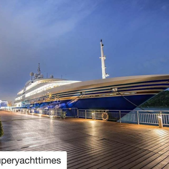 Great shot by superyachttimes of the 915m Queen Miri restyledhellip