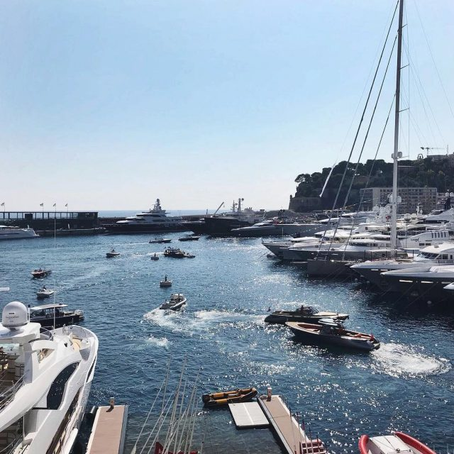 Yesterdays rush hour at the harbour yachtclubmonaco hilldickinson MYS2017 berndweeldesignhellip